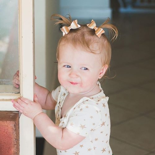Little Bow Co Mini Molly Piggy Pair Clips Rose Gold