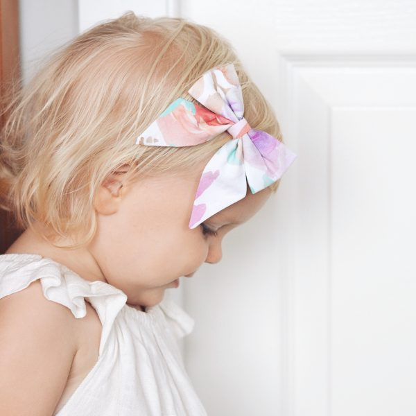 Little Bow Co Claire Watercolour Sailor Bow