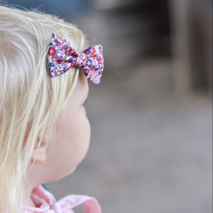Little Bow Co Red Floral Bow