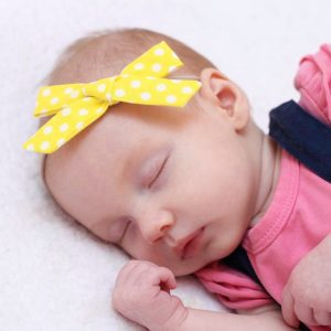 Little Bow Co Yellow Polka Dot Bow Headband