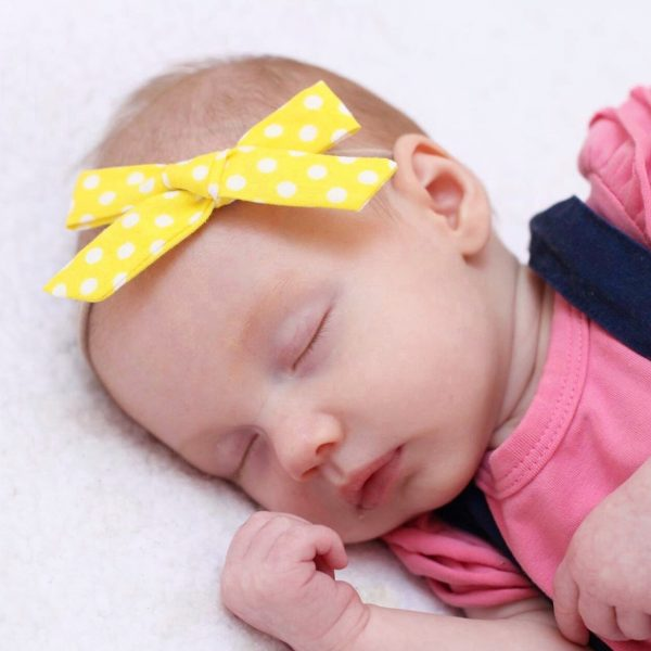 Little Bow Co Yellow Polka Dot Bow Headband