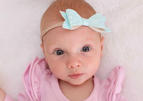 Little Bow Co Iced Blue Glitter Molly Bow Headband