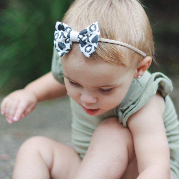 Little Bow Co Organic Cotton xoxo Bow Headband