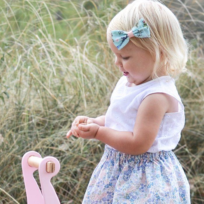 Little Bow Co Bluebird Bow Left Clip