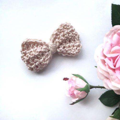 Little Bow Co Lou Lou Crochet Bow Clip - Petal