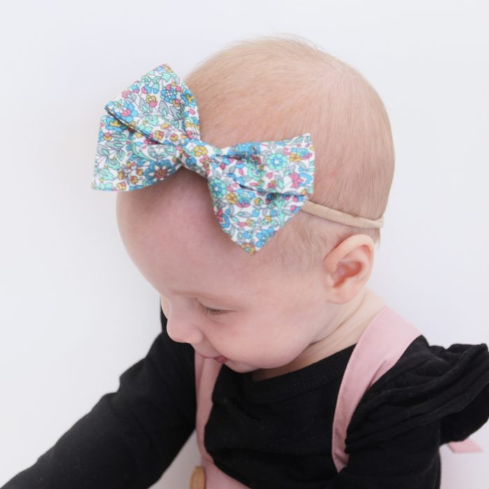Little Bow Co Hannah Mint Floral Bow