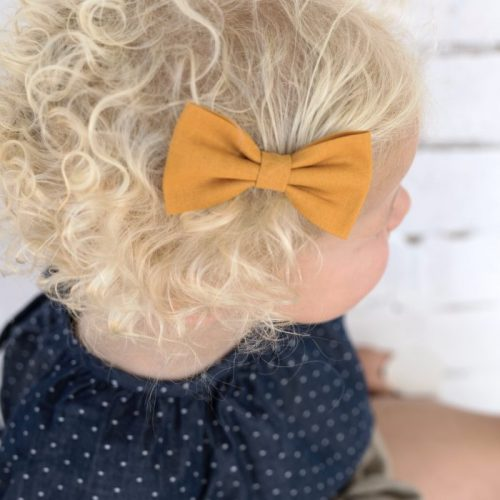 Little Bow Co Mustard Bow Clip