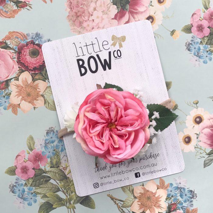 Little Bow Co Pink Louis Rose Soft Headband