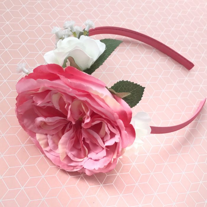 Little Bow Co Pink Louis Rose Hard Headband