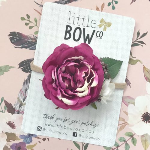 Little Bow Co Violet Rose Soft Headband