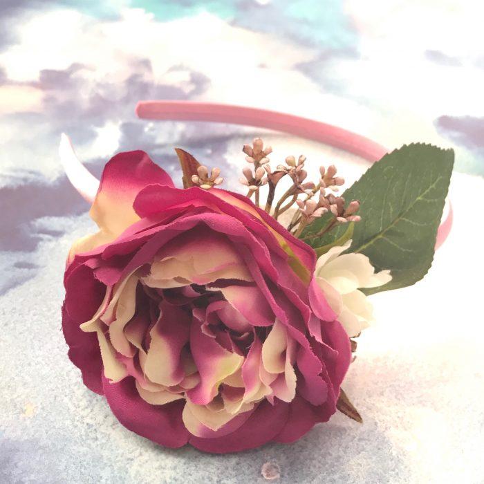 Little Bow Co Violet Rose Hard Headband