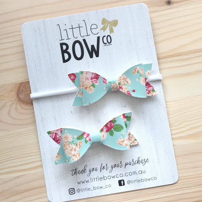 Little Bow Co Molly Bow Mummy and Me blue floral