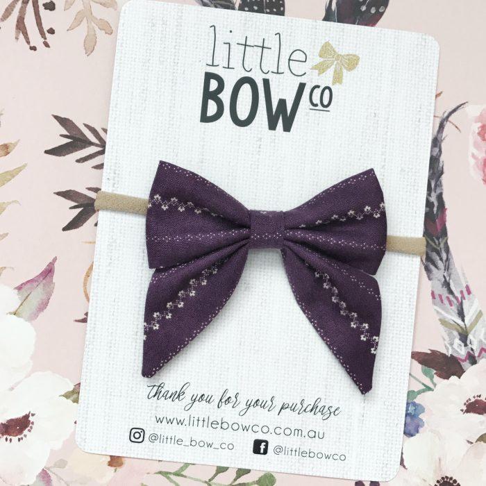 Little Bow Co Vintage Violet Sailor Bow