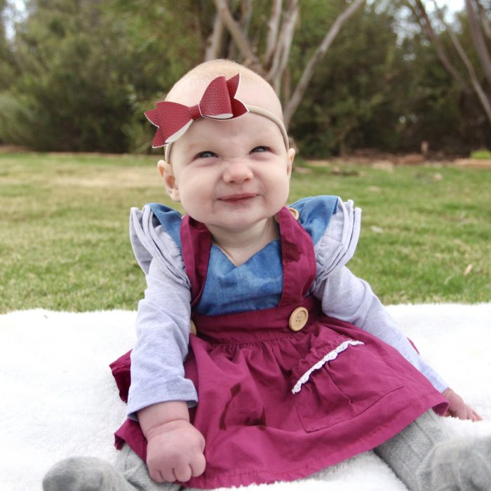 Little Bow Co Pomegranate Molly bow Nylon Headband