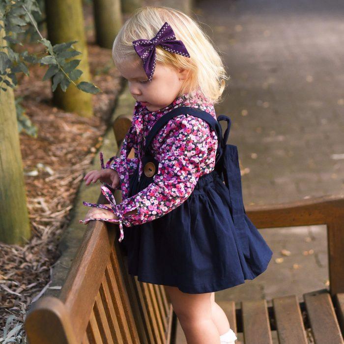 Little Bow Co Vintage Violet Sailor Bow Right Clip