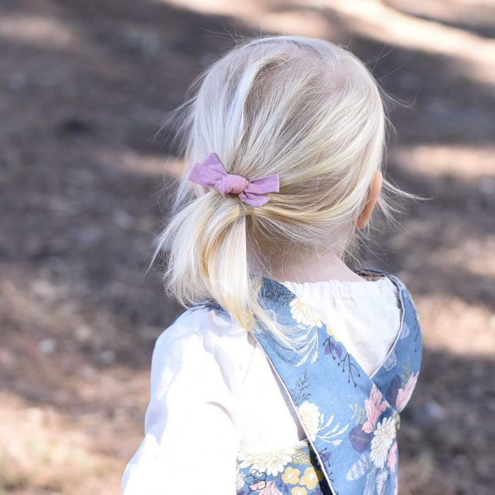 Little Bow Co Dusty Pink Knot Bow Clip