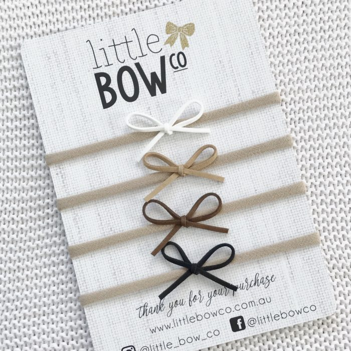 Little Bow Co Naturals Pack Little Bows on soft nylon headbands