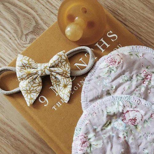 Little Bow Co Mini Sailor Bow Mustard Floral