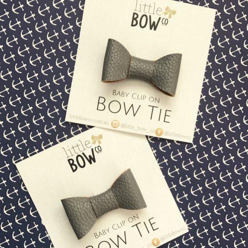 Little Bow Co Baby Bow Tie Dark Grey