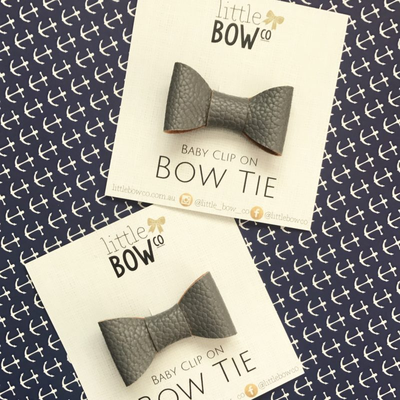 Little Bow Co Baby Bow Tie Dark Grey