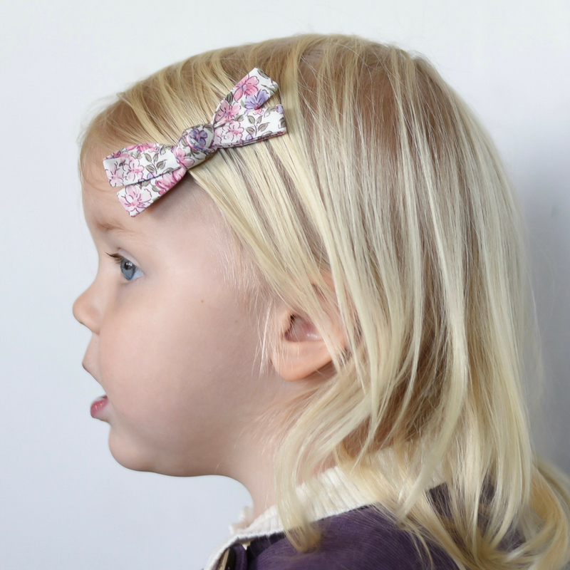 Little Bow Co Flora Bow Clip - Lilac Garden