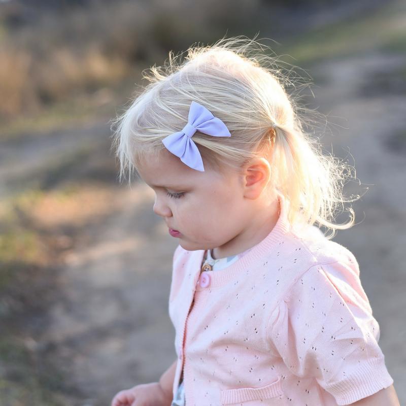 Little Bow Co Mini Sailor Bow Lilac